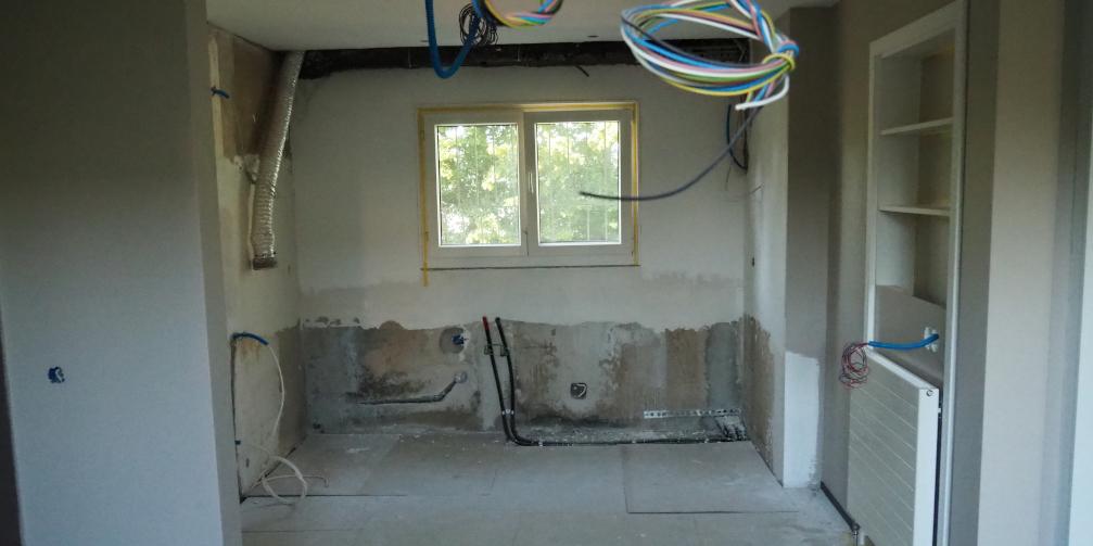 Küche Baustelle Umbau
