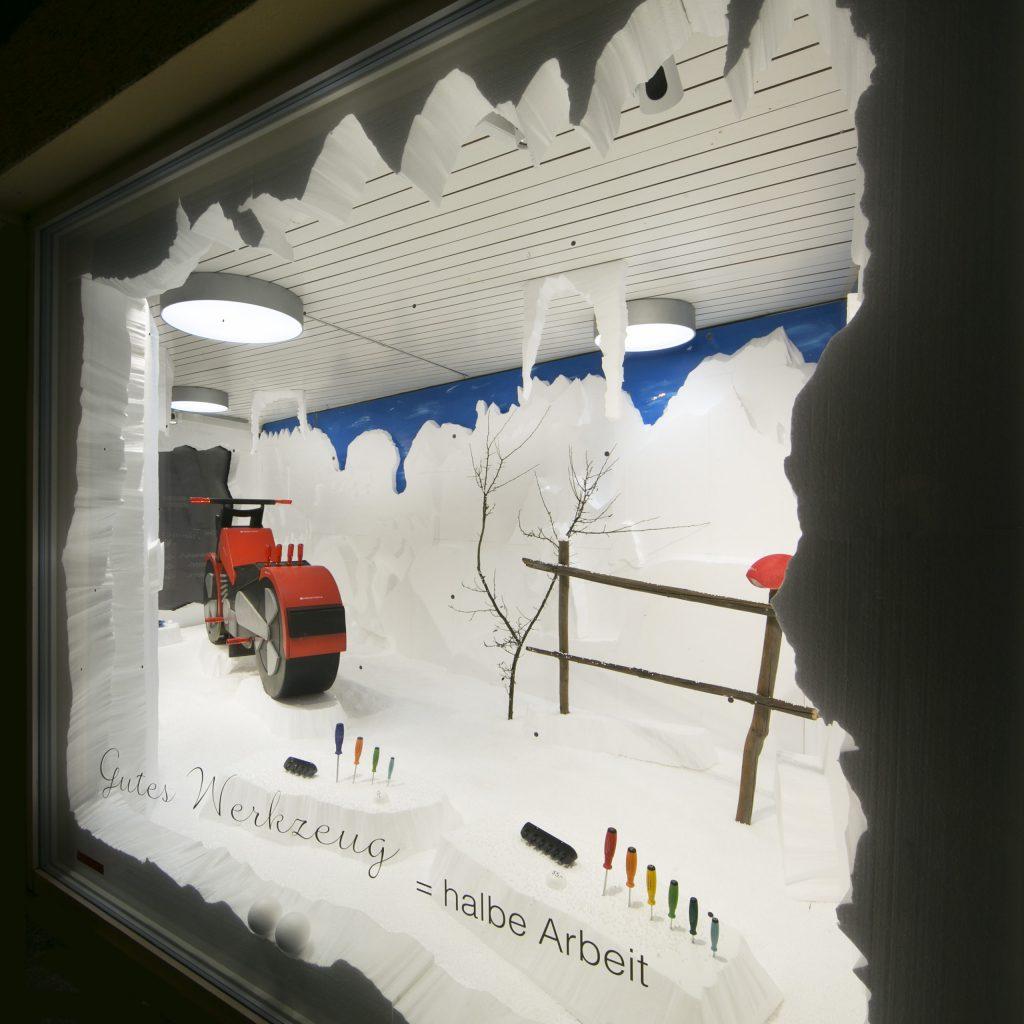 Holzharley Deko Schnee