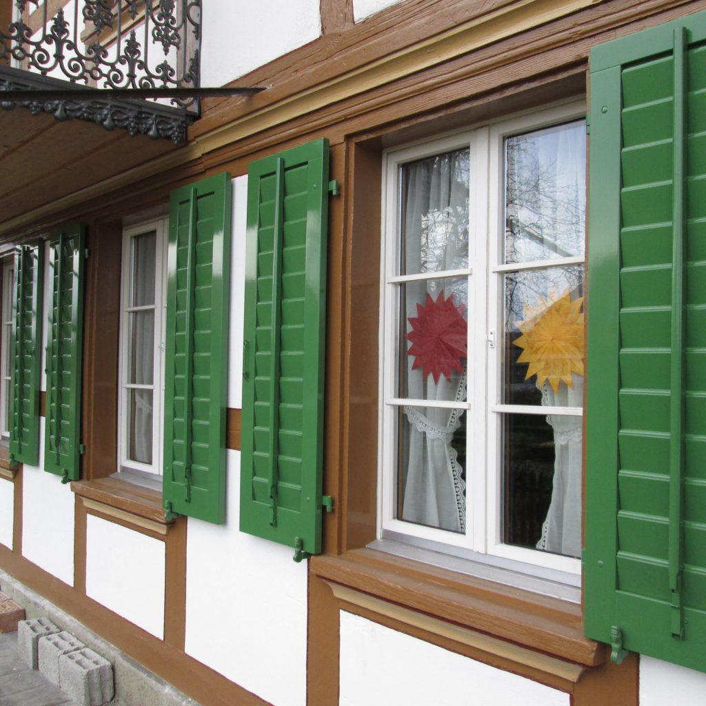 Fensterladen grün