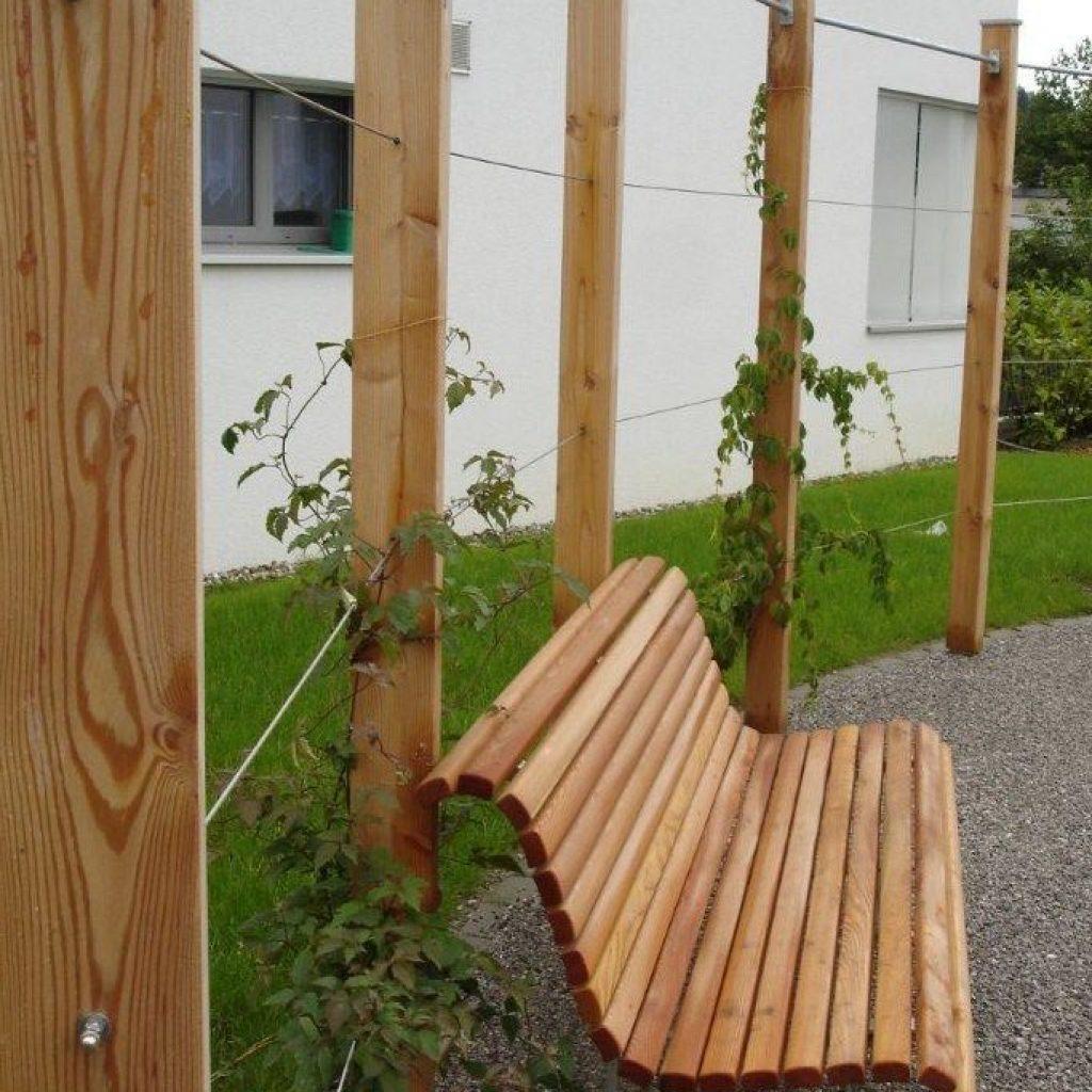 Gartenbank Holz Natur