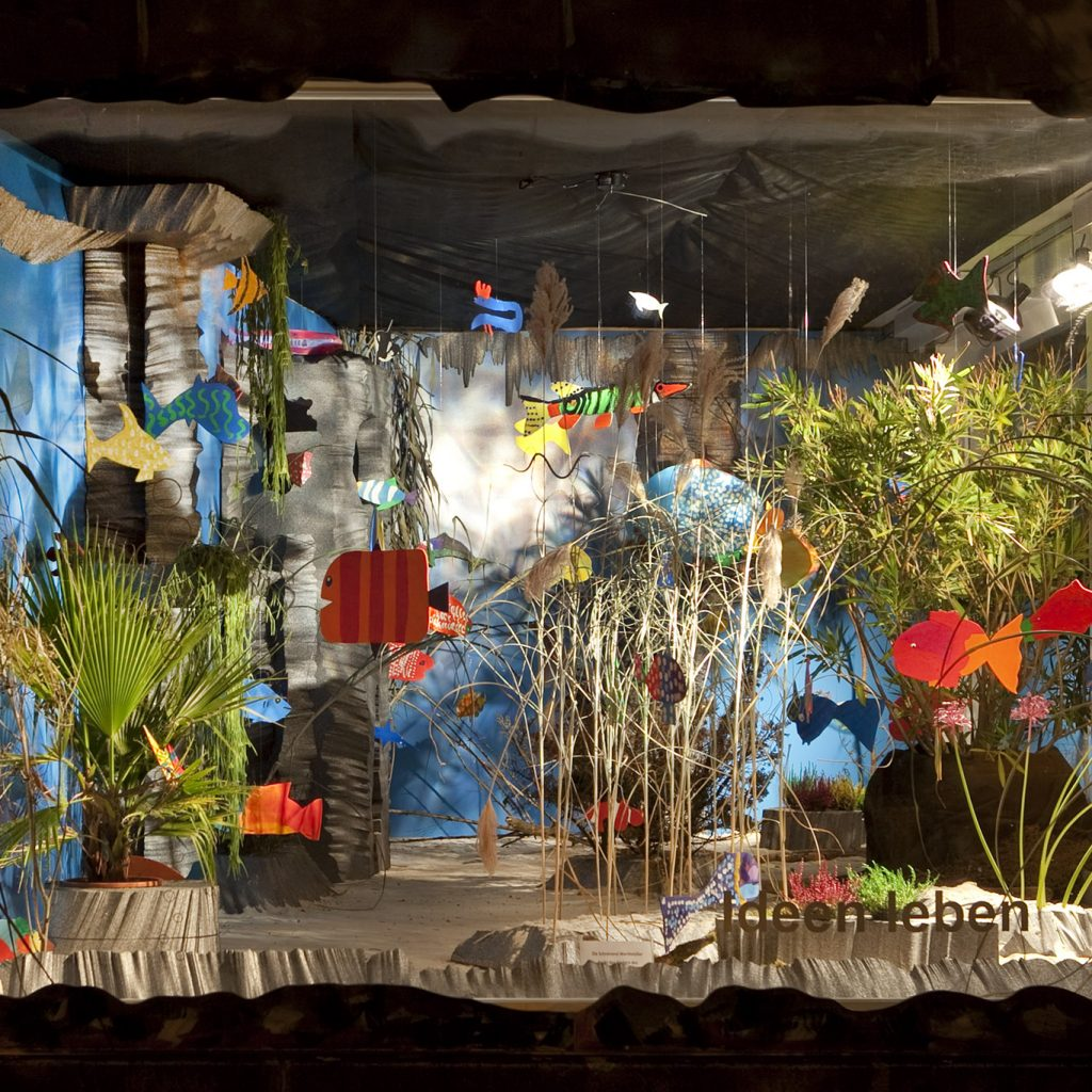 Schaufenster wird Aquarium